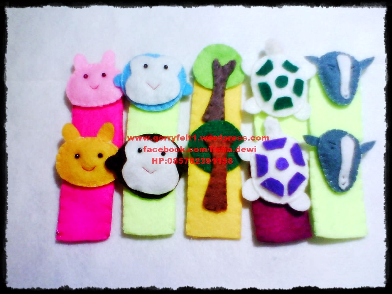 Boneka Jari Mainan Edukasi Qorry Felt N Craft