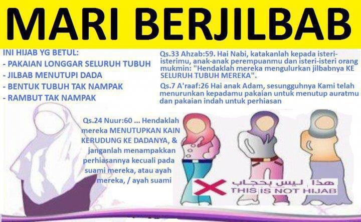 Hijab adalah bentuk ketaatan kepada Allah 'Azza wa Jalla dan bentuk ...