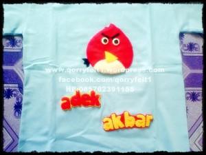 kaos aplikasi flanel angry bird