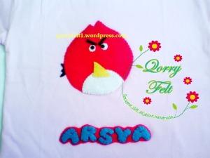 kaos flanel angry bird