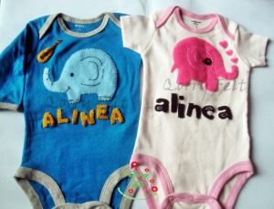 baju jumper bayi gambar gajah