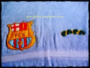 handuk klub bola ada nama
