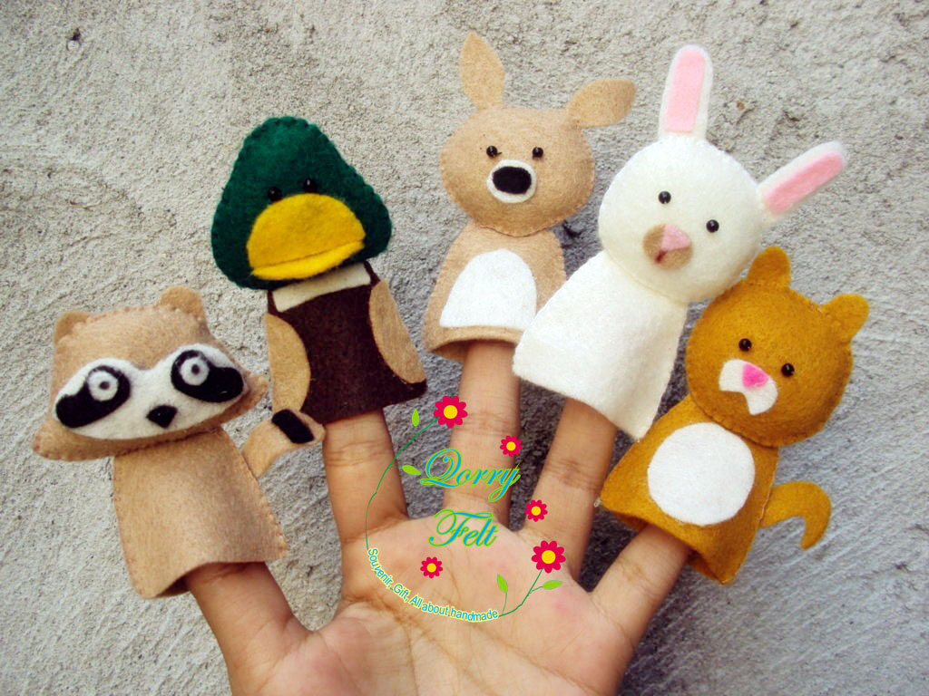 Boneka Jari Flanel Untuk Mendongeng Edukasi Untuk Anak Anak Paud