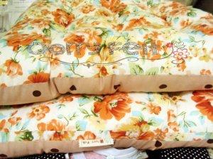 bantal duduk motif bunga